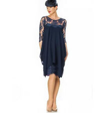 Short Navy Blue Mother of the Bride Dress Groom Dress Formal Gown Plus Size