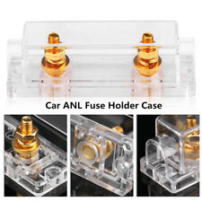 Car ANL Fuse Holder Transparent Case Distribution Gauge Inline Block 0/4/8 GA