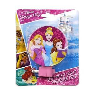 Disney Princess LED Night Light Belle Cinderella Tangled Beauty & Beast