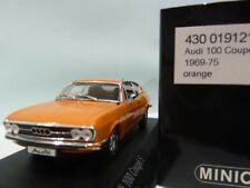 WOW EXTREMELY RARE Audi 100 C1 1.9L I4 Coupe S 1969 Orange 1:43 Minichamps-50/80