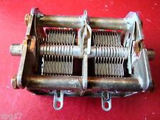 125pf TWIN SILVER PLATED BRASS Condensatore variabile R210 Ricevitore RICAMBI NUOVI 1pc