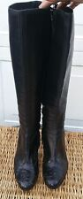 BOHO DRIES VAN NOTEN Black Zip up Boot with Whipstitch Lacing Details SZ 38