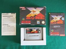 X-ZONE Nintendo SNES PAL game complete - SCANDINAVIAN SCN ENGLISH VERSION