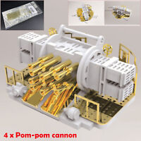 4pcs/set 1/200 Scale British 40mm Pom-Pom Cannon Kit Mounting Assembly Model NEW
