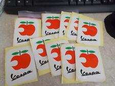 NOS Vespa Apple Scooter Stickers 10pk