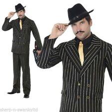 Déguisements noirs taille M pour homme gangster