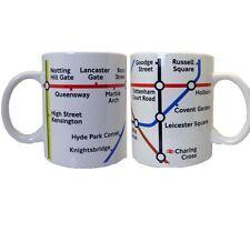 London Tube Metro Train Map Designed Ceramic Tea Coffee Mug Souvenir Gift