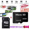 Micro SD 64GB Speicherkarte TF Karte Class 10 Flash + Adapter Für PC Phone MP4