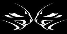 APRILIA Leones Cabeza Blanco calcomanías de gráficos de moto X 2PCS Grande