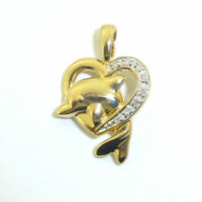 Yellow Gold Love & Hearts Fine Diamond Necklaces & Pendants