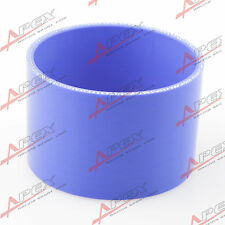 "3 Ply 3.5"" inch Straight Hose 70mm Turbo Silicon Coupler Pipe Blue"