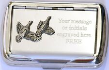 Partridge Tobacco Hand Rolling Ups Cigarette Tin Game Bird Shooting Keeper 262