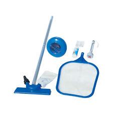 Bestway Kit pulizia piscina accessori asta retino termometro test toppa 58195