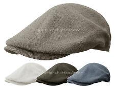 100% COTTON KNIT IVY CAP Gatsby Summer Newsboy Hat Golf Driving Flat Cabbie