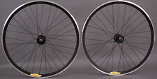 Velocity Deep V ALL BLACK Fixed Gear Track Bike Wheels Wheelset Singlespeed