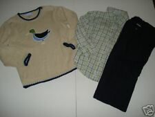 Janie & Jack Little Gentlemen Duck Sweater Top Pant 4T