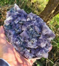 Top XXL Kabinett 1,95kg Galenit Fluorit Greenlaws Mine Weardale UK Fluorite 🔥