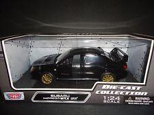 Motormax Subaru Impreza WRX STI Black 1/24