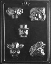 Day of Dead Skulls - Dia de los Muertos - Chocolate Mold - H165