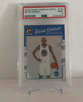 2016-17 Donruss Optic Kevin Durant #137 Warriors PSA 9 Mint 1st Year Optic Nets