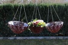 Blumenampel Blumenkorb Pflanz Korb Ampel Hängeampel Metallkette Korb Hängekette