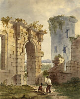 Thomas Sherratt, Caerlaverock Castle, Dumfries – Early 19th-century watercolour