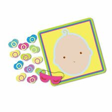 """Beistle 66675 Pin The Pacifier Baby Shower Game, 17"""" x 18.5"""" 1 piece"""