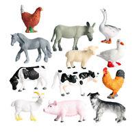 12 Pack Mini Farm Animal Figures Toy Set Life Scene Scenery Accesories Home