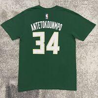Adidas NBA Milwaukee Bucks Giannis Antetokounmpo Basketball Shirt Mens Medium