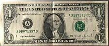 US$1 banknote A95871357D