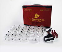 Hansol Cupping SET 10 19 30 Cups Acupressure Massage Acupuncture Therapy noo