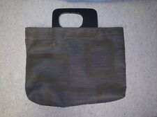 Chilewich Purse Tote Handbag with Wood Handles