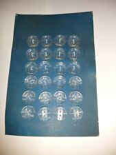 Vintage French Buttons 24 On Card Clear Patterned