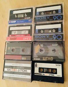 Lot 7 x Cassette Audio Tape SONY BASF TDK SUPER AVILYN