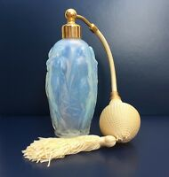 Vintage Sabino Opalescent Art Glass Nude Nymphs Perfume Bottle Atomizer France