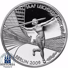 Deutschland 10 Euro IAAF Leichtathletik-WM 2009 Silber-Gedenk-Münze Spiegelglanz