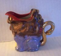 Vintage Foo Dog Guardian Lion Lusterware Cream Pitcher Made in Japan RARE