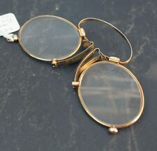 More details for antique german (1880-1900) pince nez spectacles  with unusual nose pad