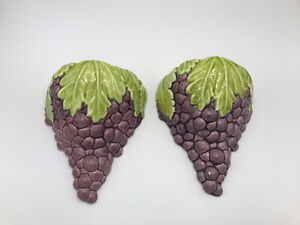 Pair of Royal Haeger Wall Hanging Grape Pockets (R745)~ Made in USA