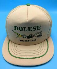 DOLESE BROTHERS / BROS COMPANY vintage beige adjustable snapback cap / hat