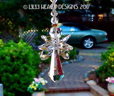 Crystal Clear Angel and Swarovski Wings Suncatcher Car Charm Lilli Heart Designs