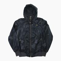 Womens Nike Air Luxury Snakeskin Windbreaker Hooded Jacket M Black Gold 2983