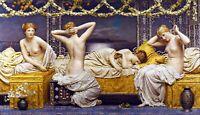 A Summer Night by English Painter Albert Joseph Moore. Fine Art Repro on Canvas