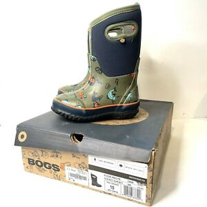 Bogs Classic x David Rollyn Fishing Graphic Boot Boys 10 Olive Winter