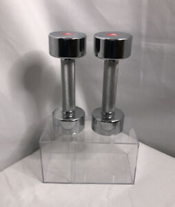 DP Fit for Life Chrome Dumbells 5 Lbs (2.27 KG) Each Total 10 Lbs Set Pre-owned