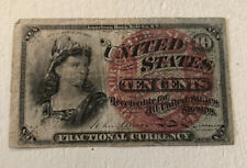 1863 UNITED STATES TEN CENTS FRACTIONAL CURRENCY