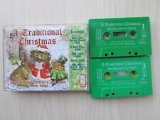 A TRADITIONAL CHRISTMAS CHILDREN'S 2 X CASSETTES, FESTIVE SONGS, TESTED.