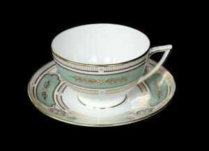 Beautiful Minton Imperial Jade Cup And Saucer