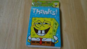 Vintage Spongebob Squarepants Thank You Notes NEW 2001