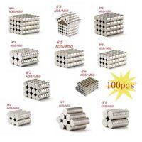 Extrem starke Neodym Scheiben Zylinder Magnete Rund Größe und N35 N50 auswählbar
